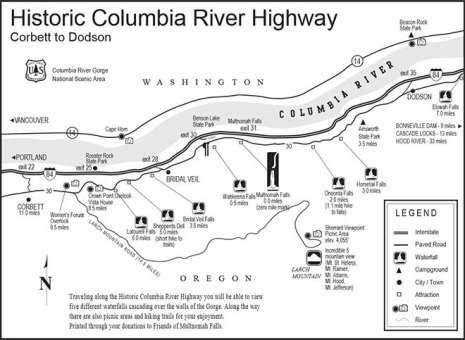Columbia-River-Gorge-waterfalls-map