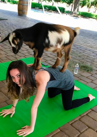 Brianna and goat