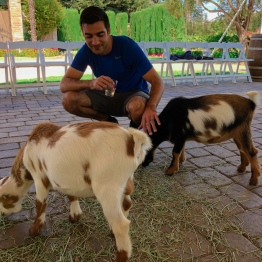 Mike and goat
