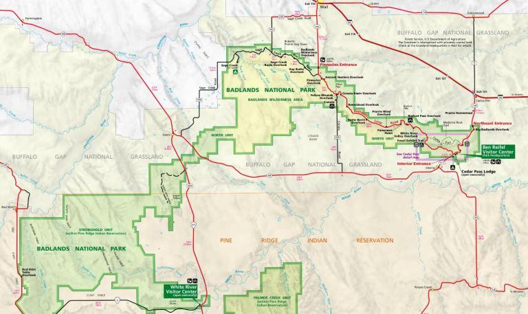 Map of Badlands